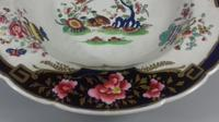 Georgian Chamberlains Worcester Large Imari Porcelain Rimmed Soup Dish (9 of 14)