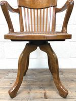 Early 20th Century Antique Swivel Desk Chair (5 of 10)