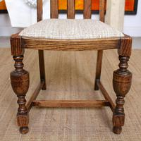 Oak Gateleg Dining Table & 4 Chairs Arts Crafts (9 of 17)