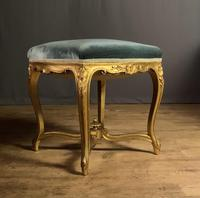 Beautiful French Giltwood Dressing Table Stool (10 of 12)