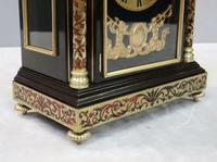 French 19th Century Ebonised & Boulle Religious Mantel Clock (4 of 10)
