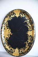 Black & Gilded Papier Mache Tray (2 of 10)