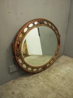 Gilded Walnut Oval Overmantel Mirror (2 of 11)
