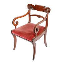 Georgian Mahogany Sabre Leg Chair (3 of 8)