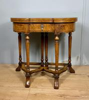 Late Victorian Burr Walnut Card Table (9 of 9)