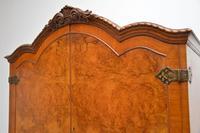 Antique Queen Anne Style Burr Walnut Cocktail Cabinet (7 of 11)