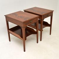Pair of Antique Mahogany Side /  Bedside Tables (6 of 12)