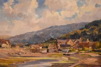 """Oil painting by Alec Caruthers Gould """"Porlock"""""""" (6 of 11)"""