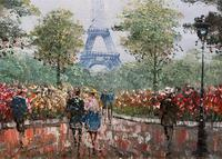 Lovely Pair of Original 20th Century French Parisian Gouache Cityscape Paintings (18 of 19)