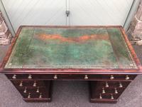 Antique Mahogany Pedestal Writing Desk (2 of 11)