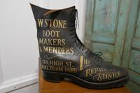 Edwardian Shoe Shop or Cobblers Trade Sign, Leather Boot Display Model (5 of 11)