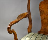 Queen Anne Style Burr Walnut Table & Chairs c.1920 (8 of 22)