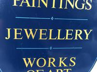 Antique Shop Advertising Sign 18th-20th Century Paintings Jewellery Works Of Art (3 of 12)