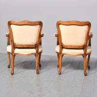 Pair of Louis XV Style Open Armchairs Fauteuils (10 of 10)