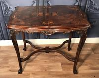 Quality Inlaid Walnut Occasional Table (8 of 18)