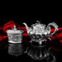 Magnificent Georgian Solid Silver Tea Set / Service 3 Piece Set - Barnard 1835 (27 of 29)