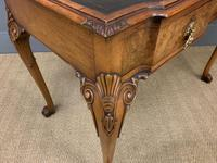 Excellent Queen Anne Style Burr Walnut Writing Table (9 of 16)
