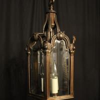 French Bronze Triple Light Antique Hall Lantern (2 of 10)