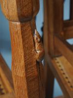 Mouseman Oak Dining Table & Set of 6 Chairs (14 of 20)