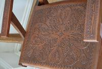 Peruvian Tooled Saddle Leather Folding Armchair (10 of 13)