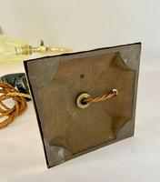 Brass Desk Lamp with Vaseline Shade C1910 (10 of 11)