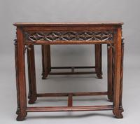 19th Century French Oak Desk in the Gothic Style (3 of 17)