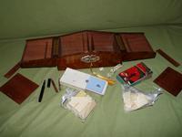 Solid Figured Oak Games Box + Accessories c.1890 (16 of 18)