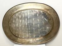 Large Danish Sporting Victorian 19th Century Danish Silver Plate Salver (4 of 31)