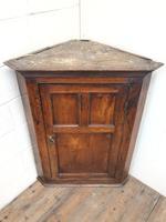 Early 19th Century Welsh Oak Panelled Corner Cupboard (2 of 7)