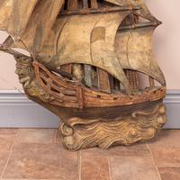 Carved Wooden Galleon Model (8 of 9)