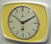 Rare Kitch Ceramic Pot Clock – Junghans 1940s Kitchen Wall Clock (2 of 6)