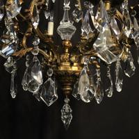 Italian Gilded Bronze & Crystal 8 Light Chandelier (8 of 10)