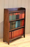 Small Graduated Open Oak Bookcase (7 of 10)