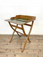Antique Oak Folding Campaign Desk (2 of 10)