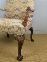 Fine Quality Georgian Style Mahogany Gainsborough Chair c.1920 (8 of 10)