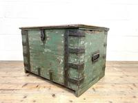 Distressed Painted Metal Bound Trunk (7 of 10)