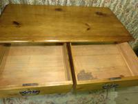 Lovely 2 Over 3 Victorian Stripped Pine Chest of Drawers with Fancy Pierced Metal Handles (3 of 9)