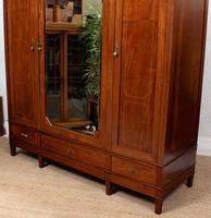 French Triple Wardrobe 19th Century Mahogany Mirrored (6 of 12)