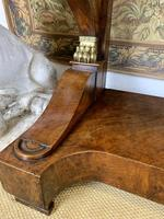 Regency Burr Walnut Console Table with Marble Top (3 of 9)