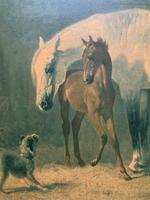 Aft: Emil Volkers Beautiful Vintage Framed Equestrian Print On Board (5 of 12)