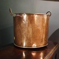 Antique Copper Coal Bucket of Oval Form with Handles (6 of 7)