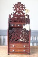 19th Century Scottish Vernacular 'folk Art' Thistle Fretwork Spoon & Candle Box (15 of 36)