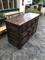 Antique Large Oak Coffer Box with Drawers Below 1700's