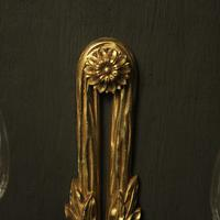 French Set of 4 Gilded Twin Arm Wall Lights (6 of 10)