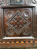 18th Century Oak Coffer with Inlay (9 of 13)