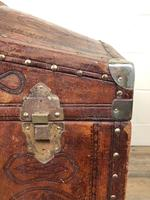 Large Leather Bound Dome Top Trunk (15 of 15)