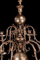 Two-Tiered Bronze 12 Arm Chandelier (4 of 5)