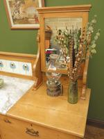 Antique Victorian Pine Washstand with Marble Top & Mirror, Adaptable Sink Unit (13 of 21)