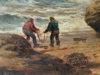 Gigantic George Henry Jenkins  19th Century Seascape Oil Painting (9 of 12)