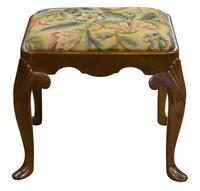 19th Century Walnut George I Style Stool (3 of 6)